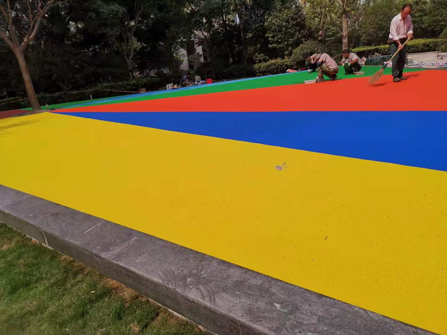 EPDM rubber particle surface